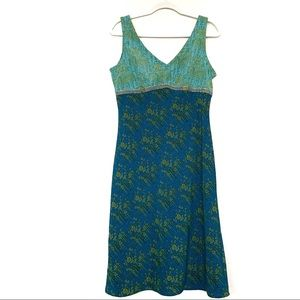 Jonathan Martin Summer Slip Dress Teal size 9